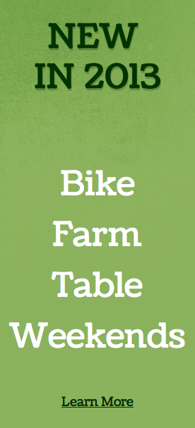 New in 2012, Bike Farm Table Weekends in the Pioneer Valley of Western Massachusetts